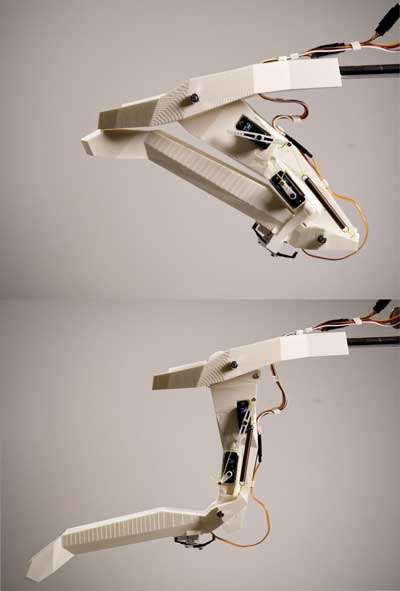 a bio-inspired robot with the operating principle of the complex mouthparts of a dragonfly